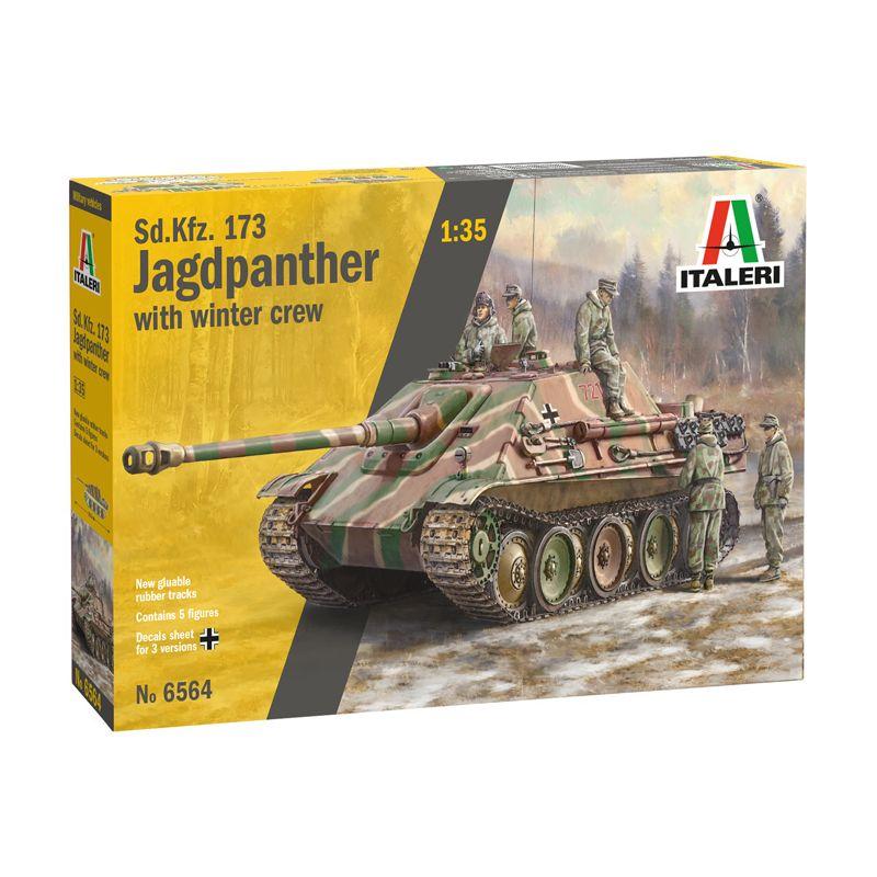 6564S ITALERI Sd. Kfz.173 Jagdpanther legénységgel 1:35