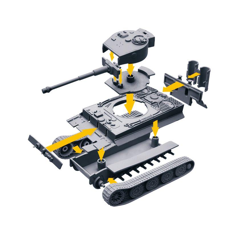 Italeri 34103 Pzkfw. VI Tiger I Easy to build WoT 1:72