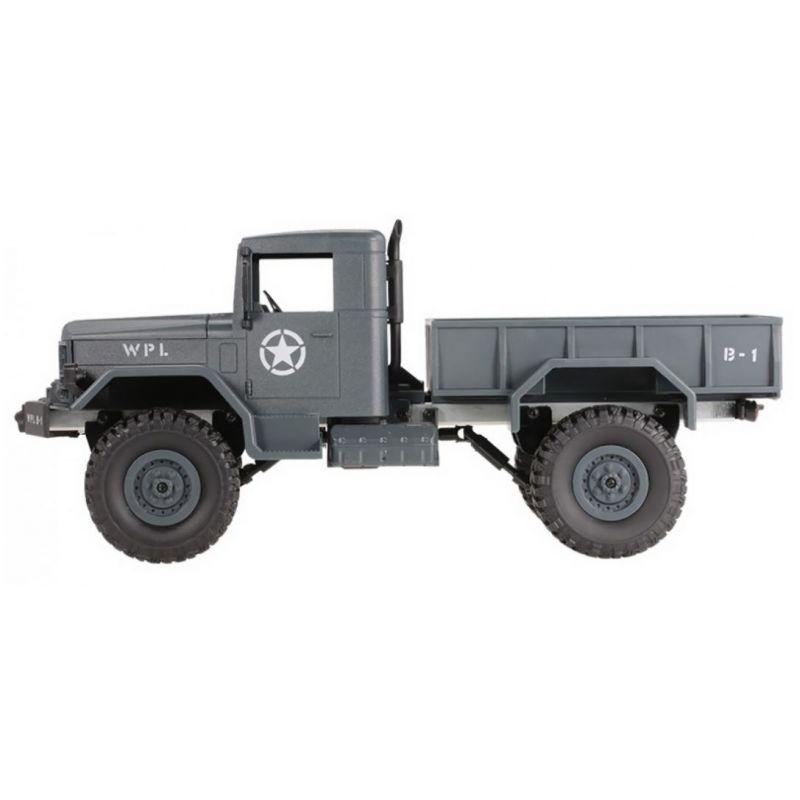 WPL B-14 4x4 1:16 Army Truck - acélkék RTR