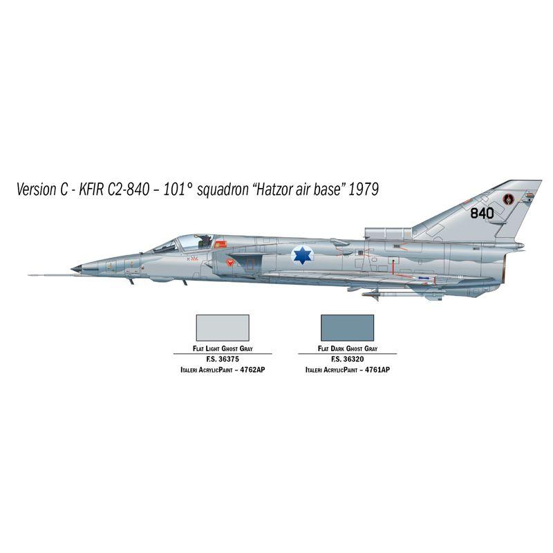 1408s Italeri Kfir C.2 vadászrepülő 1:72